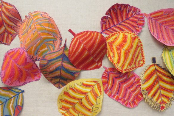 Kath's Canon October 9, 2015 Contoured Leaves Elementary Art 029