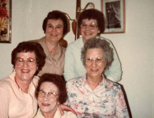Gramma Tilly Thompson and sisters