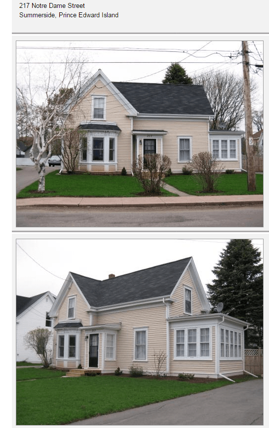 Residence for Fred Gallant summerside