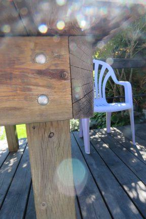 Talking deck table construction...lol...as women will.