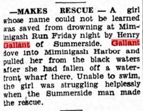 Henry Gallant Rescue Summerside Guardian