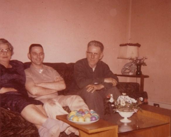 John Moors with Gramma and Grampa Moors