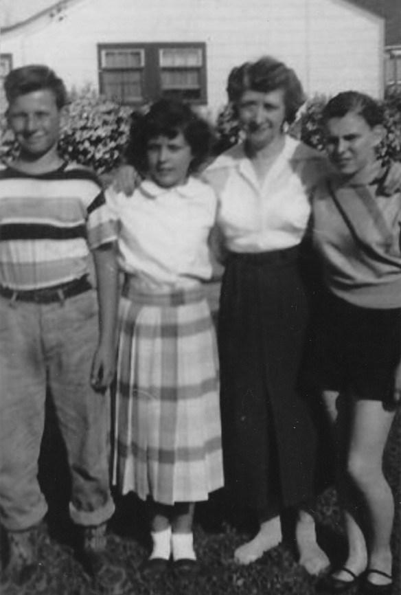 Marilyn in plaid and Auntie Caroline Elliott and #2