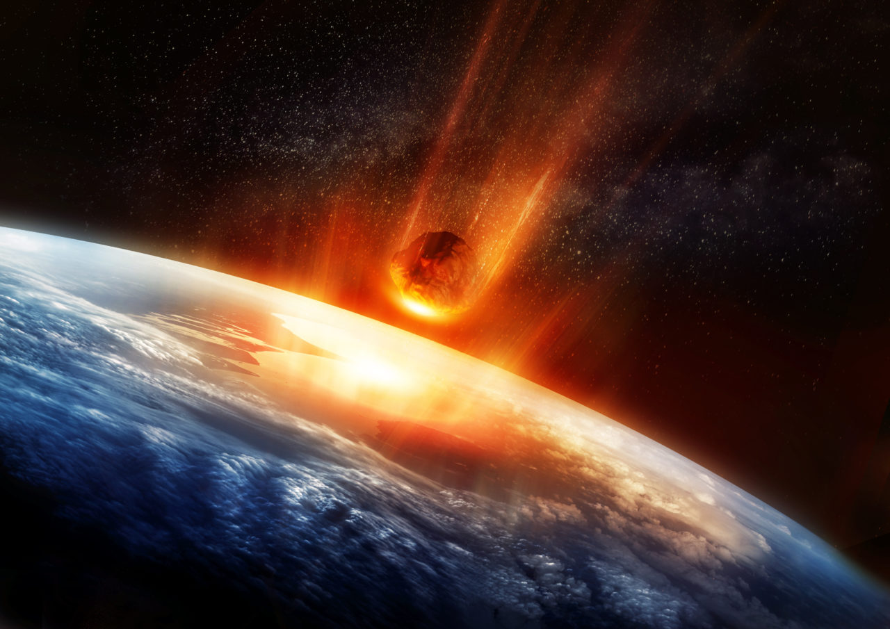 Science Fiction Asteroid Hitting the Earth