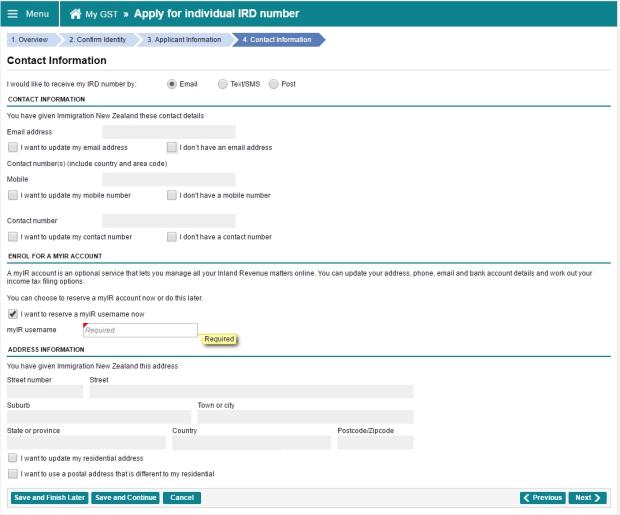 『線上申請』紐西蘭 IRD 稅號 – Shepherdess 牧羊女 紐西蘭奇幻之旅