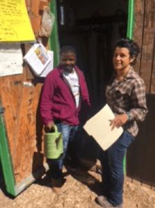 Shepherd of the Valley Presbyterian Church donates 3 rows of space Ugandan refugee Sylvester