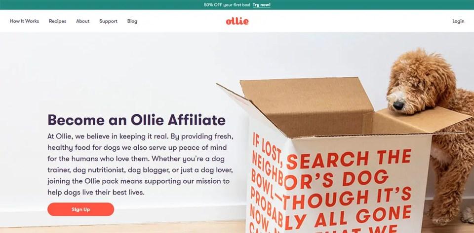 Ollie Dog Affiliate Program