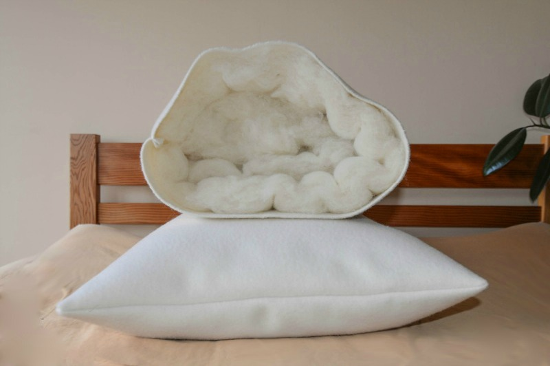 AllSeason Dream  Sleep Pillow  100 Pure  Plush Wool