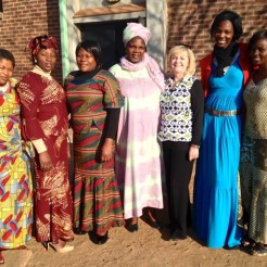 Christi & Ladies in Francistown, Botswana at Conference