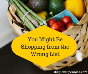 You Might Be Grocery Shopping from the Wrong List