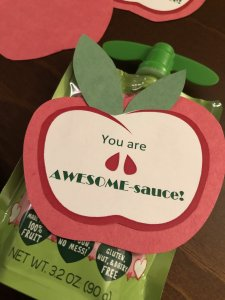 You Are Awesome Sauce Valentines Day Toddler Party Tag