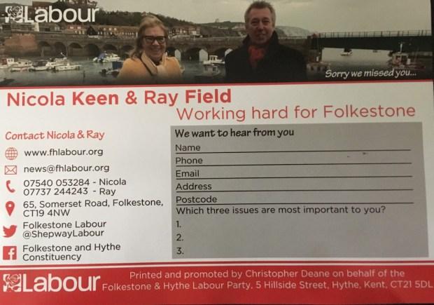 Labour Leaflet