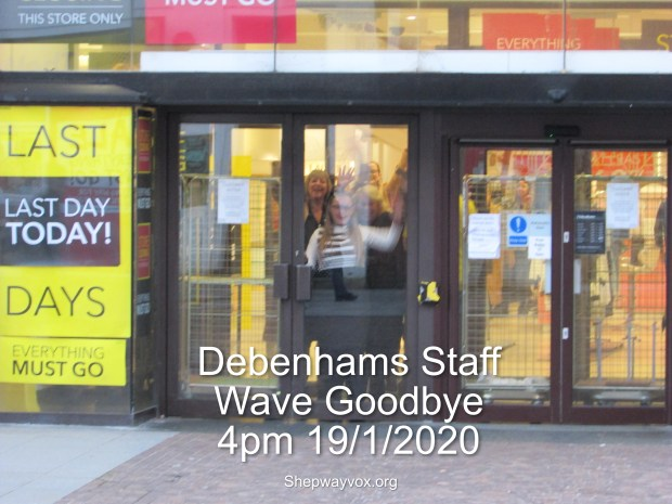 Final Day Debenhams 4pm