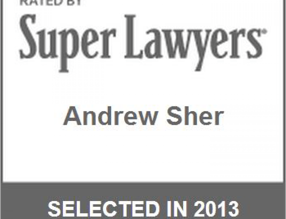 Andrew Sher Selected to Nation's Top One Percent 2016 by
