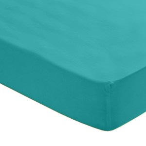 Sheraton 200TC 100% Cotton Percale Fitted Sheet - Turquoise