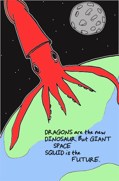 Giant Space Squid