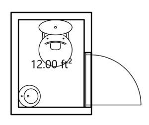 3' x 4' Bathroom Example