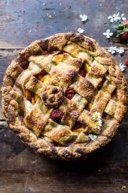 Honey Strawberry Peach Pie