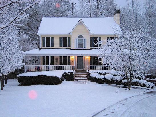 Snow & House