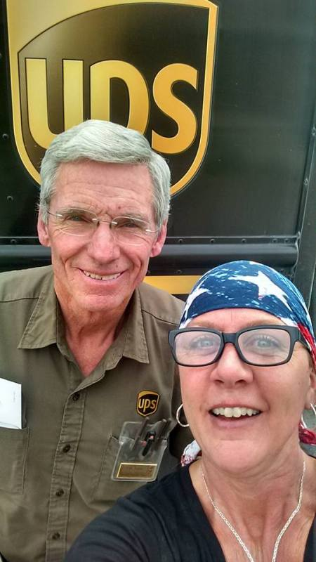 Marci and her UPS friend