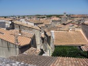 Arles rooftops from the lookout near the Amphitheatre