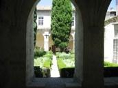 Peaceful garden in the monastery