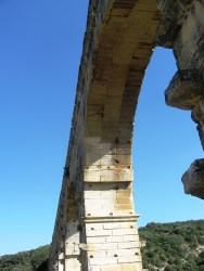 Pont du Gard - underneath the arches, just like the song...