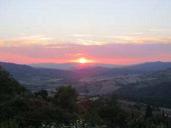 Under the setting Tuscan sun