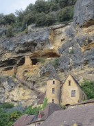 The cliff face at La Roque Gageac