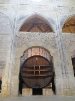 One of the huge wine vats in the Abbaye
