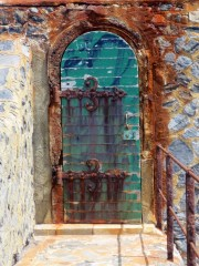 Door on the promontory lighthouse