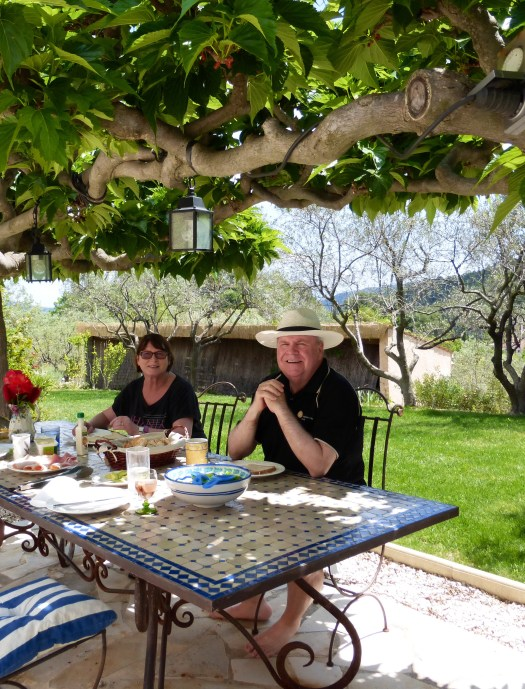 Lunch under the arbour