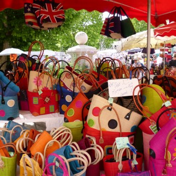 A jumble of colourful bags