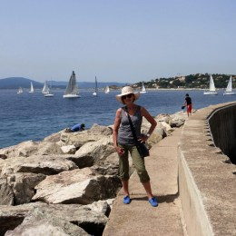 On the sea wall at St Maxime