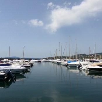 Glassy calm in the marina