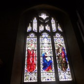 Stained glass in St Catharine's