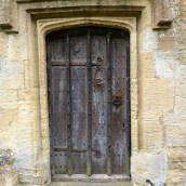 Door in the St John the Baptist in Burford