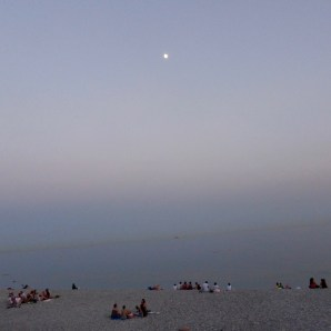 Dusk on the beach
