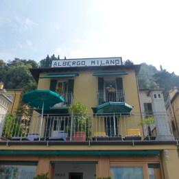 Facade of Albergo Milan
