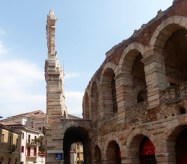 The Verona amphitheatre, built in the first century AD