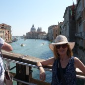 Looking back to Santa Maria della Salute