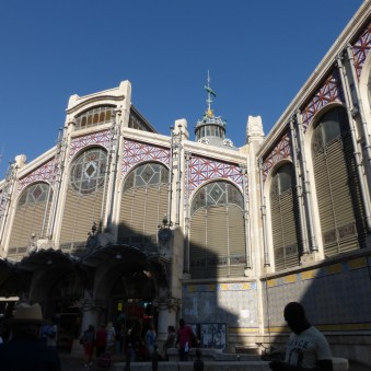 Facade of the Mercat Central (market)
