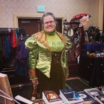 Customer in costume she made Norwescon