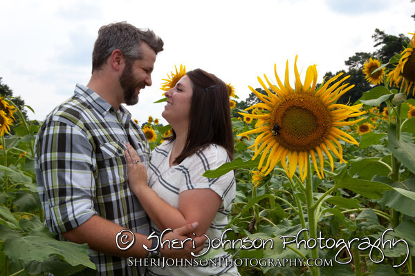 Sunflower Farm Engagement in Forsyth County Georgia