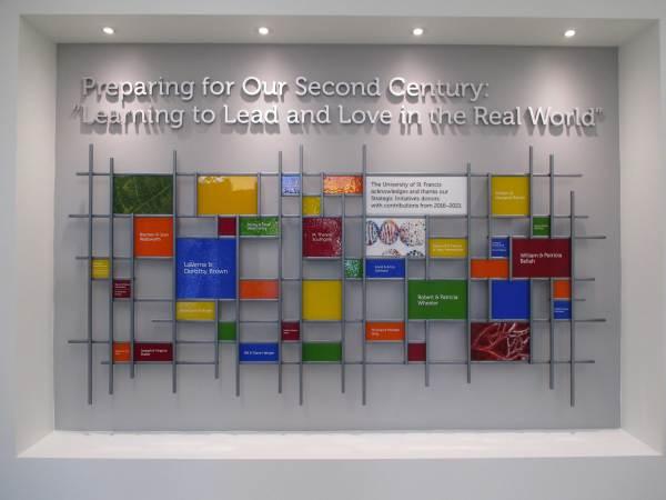 Donor Wall & Memorial Sheri Law Art Glass