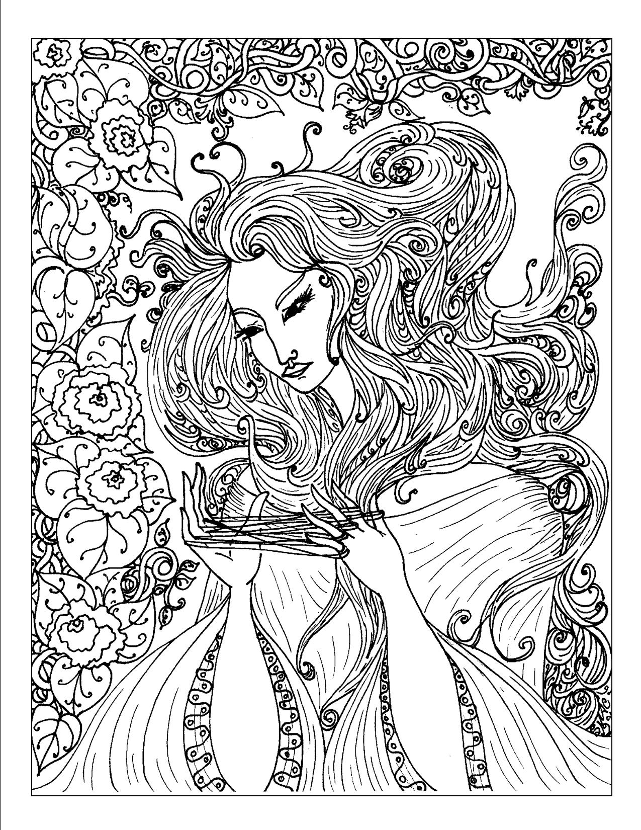 Images: exotic coloring pages | Coloring page with exotic flowers ... | 1650x1275