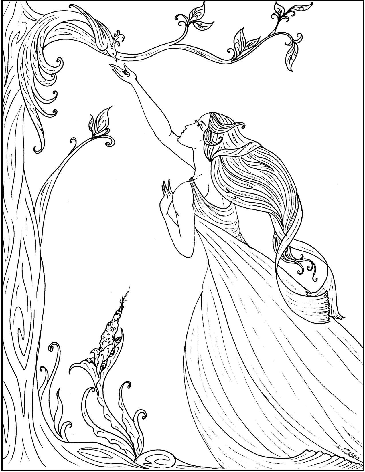 Art Nouveau Coloring Pages Sc S Place To Be