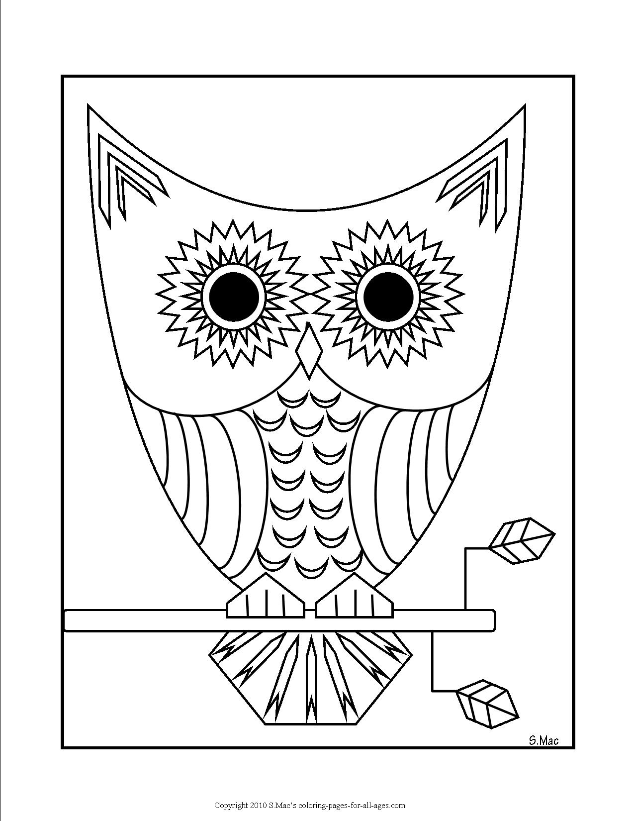 Geo Pets Coloring Pages