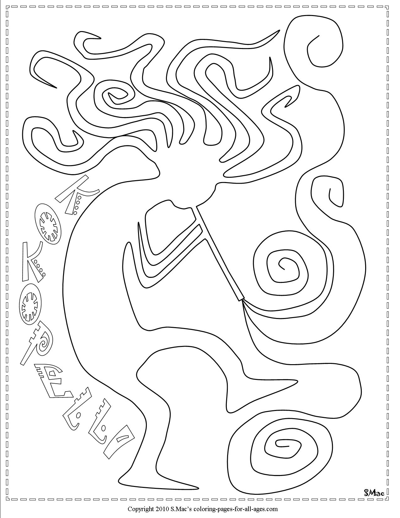 Kokopelli Coloring Pages