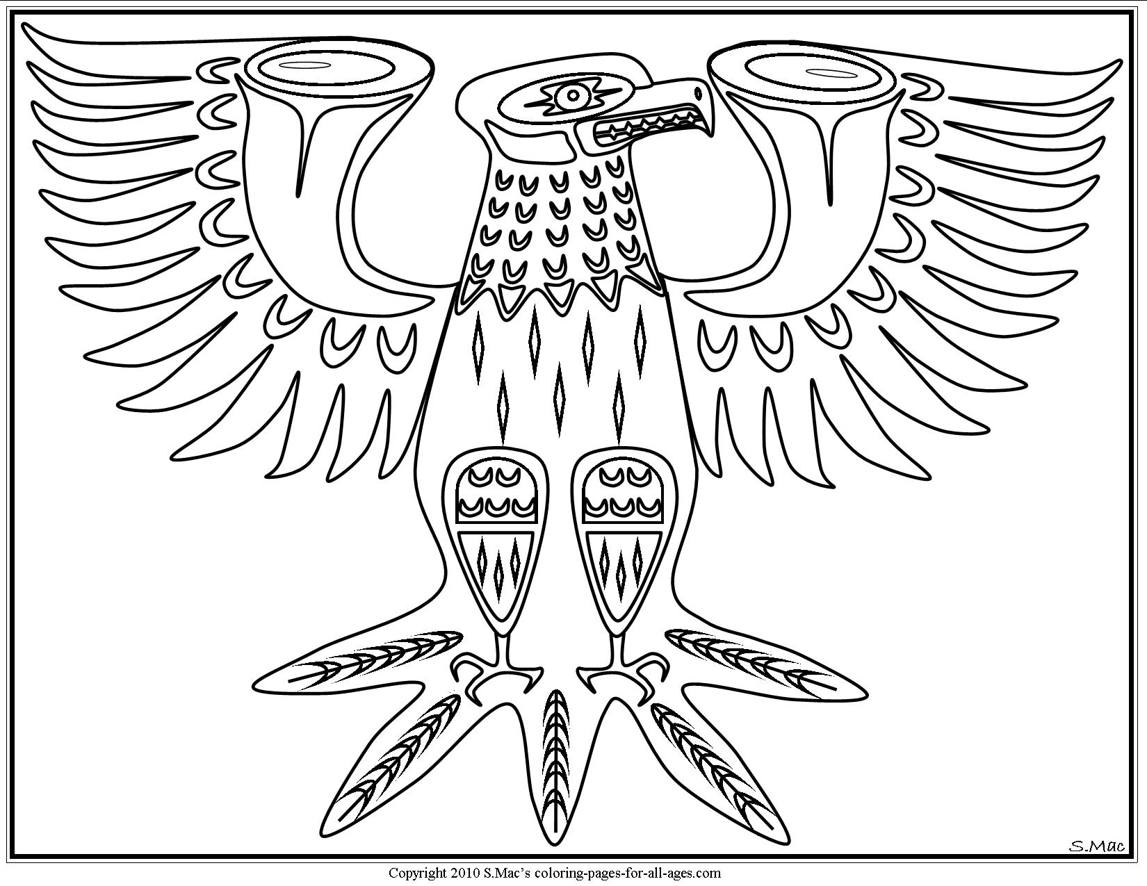 Pacific Northwest Native American Art Coloring Pages | S.Mac\'s Place ...